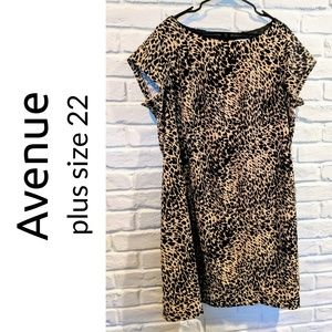 Avenue plus size 22W leopard print sheath dress